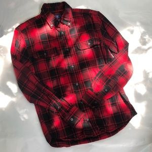 GEORGE Red and Black Flannel